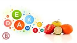 Verschiedene Früchte für die individuelle Mikronährsoffe Mischung