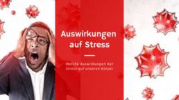 Mann der körperliche Auswirkung auf Stress hat